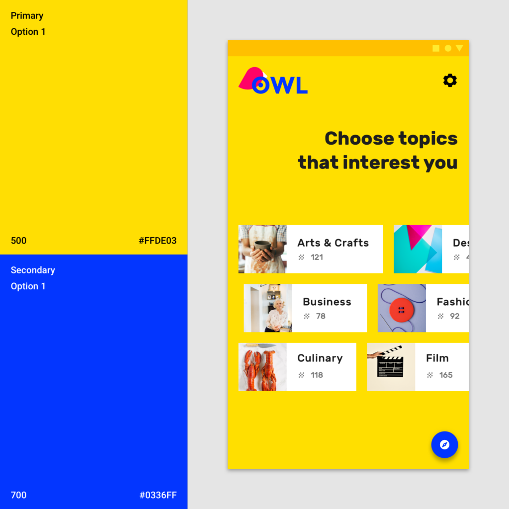 Material Design - Owl colors